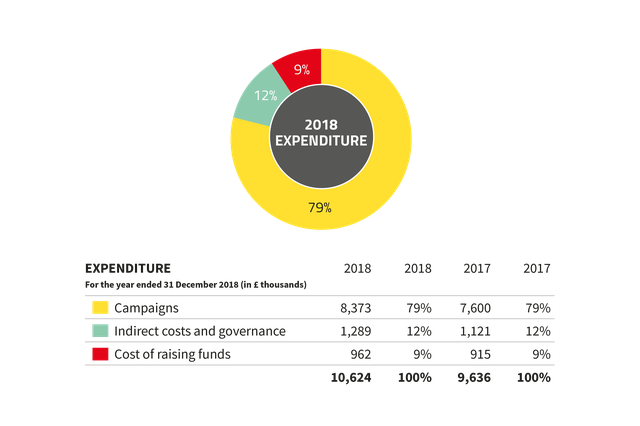 Global Witness expenditure 2018