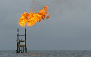 Gas flaring off the Angolan coast