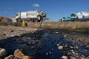 Heavy fuel oil spill in Loire estuary, France