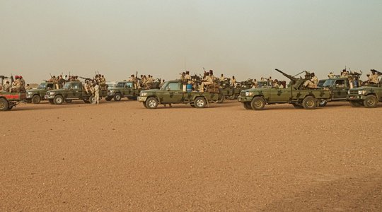 Sudan RSF Technicals 4x4s