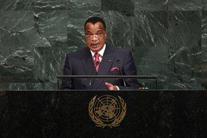 Congo B President Denis Sassou Nguesso addresses 72nd Session of UNGA