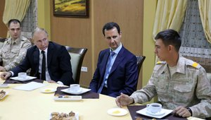 Putin and Assad at meeting
