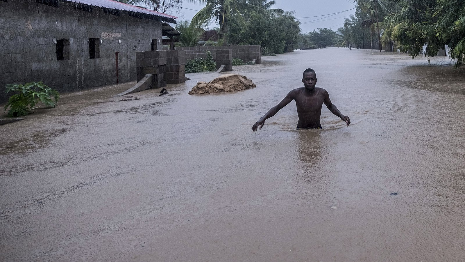 Flooding in Pemba, Mozambique.