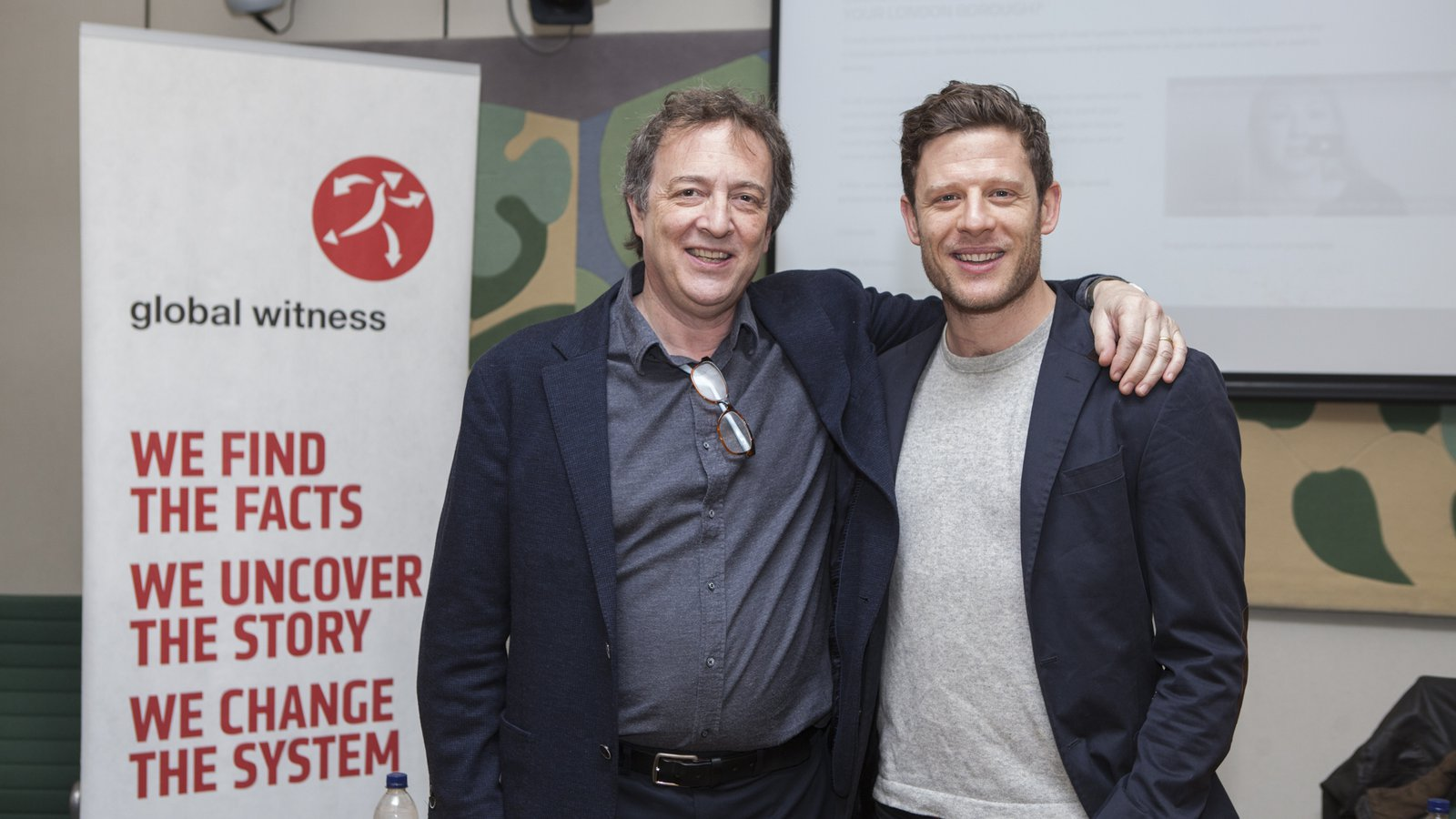 James Norton and Misha Glenny at Global Witness parliamentary event on McMafia
