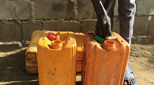 South Sudan petrol cans