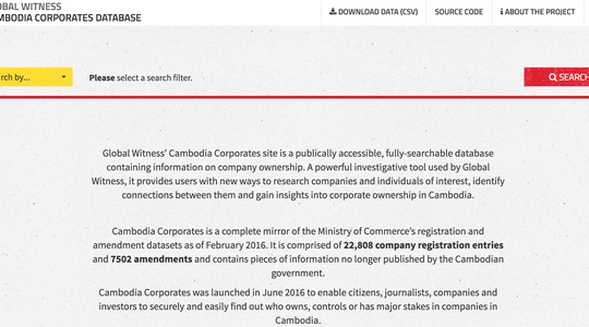 Screenshot of Cambodia Corporates