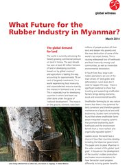 What future for rubber production in Myanmar Cover