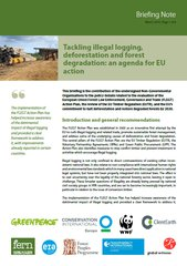 illegal logging, deforestation and forest degradation: an agenda for EU action