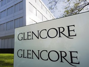 Baar, Switzerland - October 21, 2012: Entrance to the company headquarters of Glencore