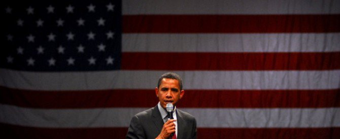 Barrack Obama with Flag
