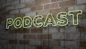 Podcast writing on wall