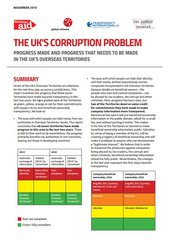 UK's corruption problem cover
